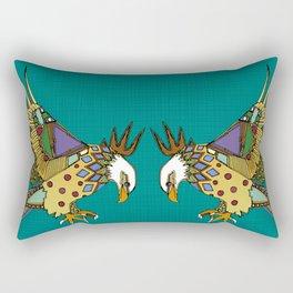 jewel eagle turquoise Rectangular Pillow