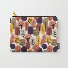 Autumn Trees Pattern Carry-All Pouch
