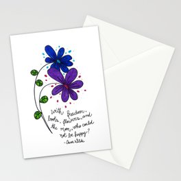 Flower happiness Stationery Cards