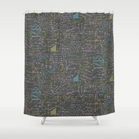 math Shower Curtains featuring Math Lessons by robyriker