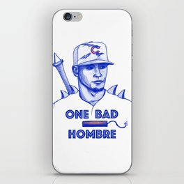 Javier Baez: One Bad Hombre iPhone Skin