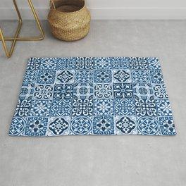Classic Blue Tiles Rug