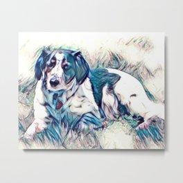 Skeeter the Dog Photoart Metal Print