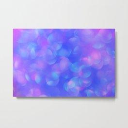 Turquoise Blue Bubbles Metal Print