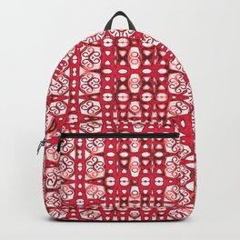 Lush Elegant Red Ink Boho Batik Print Backpack