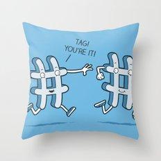 Hash Tag Throw Pillow