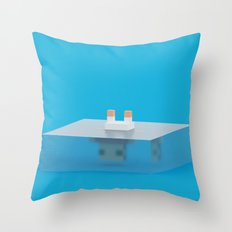 drowned (voxel) Throw Pillow
