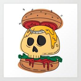 Deadly burger Art Print
