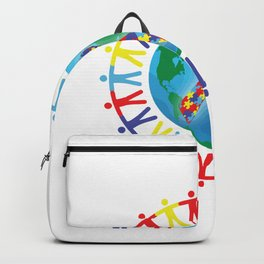 Autism awareness day Shirt - support autistic kids Backpack