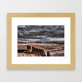 storm over clacton-on-sea Framed Art Print