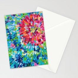 Color Burst Finger Painting Stationery Cards