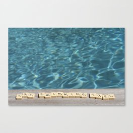 Swimming-pool Canvas Print