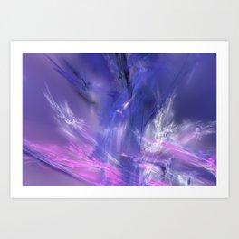 magic ice Art Print