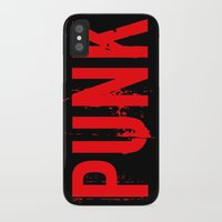 punk rock iPhone & iPod Cases featuring PUNK by Silvio Ledbetter