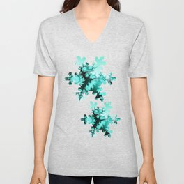 Winter magic in soft blue Unisex V-Neck