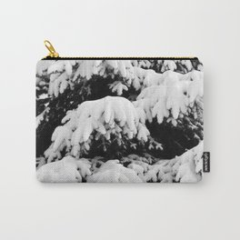 Snow Covered Fir Tree Carry-All Pouch