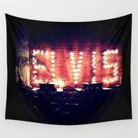 elvis Wall Tapestries featuring Elvis! by Bree Craft