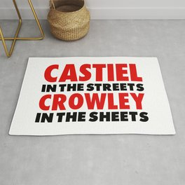 CASTIEL IN THE STREETS CROWLEY IN THE SHEETS Rug