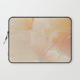 Gingko Biloba Botanical Abstract Graphic Art Rust Gradient Laptop Sleeve
