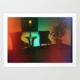 Damaged Disposable Camera Film - Waiting Room Art Print