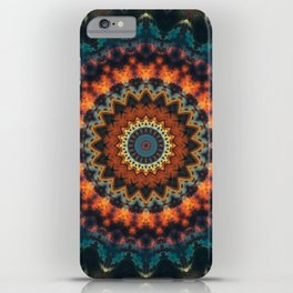 Fundamental Spiral Mandala iPhone Case