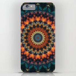 Fundamental Spiral Mandala iPhone Case