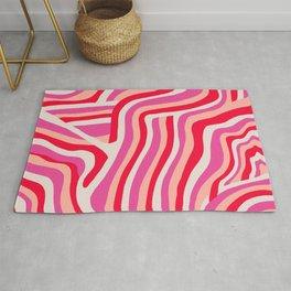 pink zebra stripes Rug