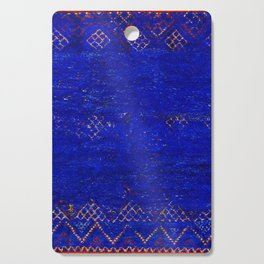 -A5- Royal Calm Blue Bohemian Moroccan Artwork. Cutting Board