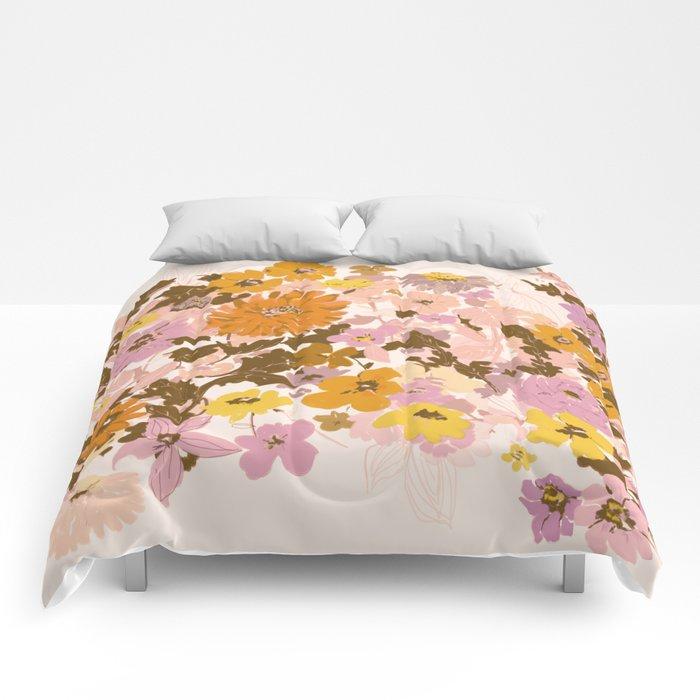 vintage wildflowers Comforters