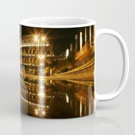 Colosseum reflection at night Coffee Mug