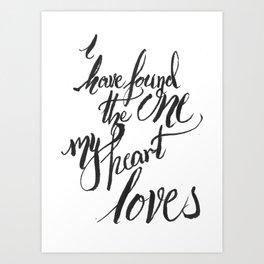 my heart loves Art Print