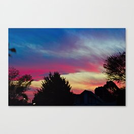 Skittle Sky Canvas Print