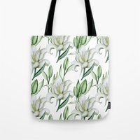 lily Tote Bags featuring Lily by Julia Badeeva