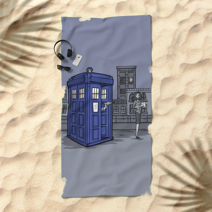 PaperWho Beach Towel