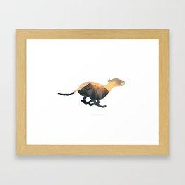 Greyhound Double Exposure Framed Art Print