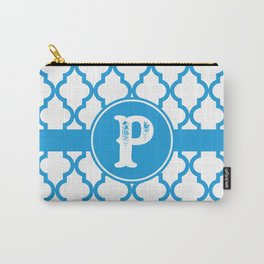 Blue Monogram: Letter P Carry-All Pouch