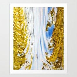 488 - Abstract water design Art Print