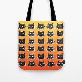 Black Cats Halloween Pattern Tote Bag