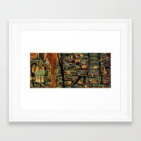 paris map Framed Art Prints featuring Paris Map by Larsson Stevensem