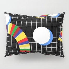 Memphis Grid & Rainbows Pillow Sham