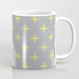 Ornamental Pattern with Grey and Lemon Yellow Colourway Coffee Mug