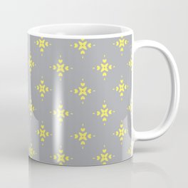 Ornamental Pattern with Grey and Lemon Yellow Colourway Coffee Mug
