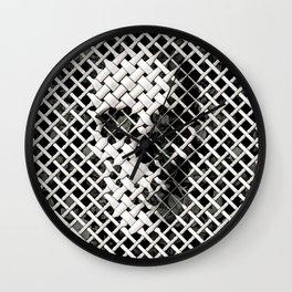 Wicker Skull Wall Clock