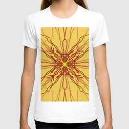 shades of red and yellow T-shirt