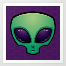 Alien Head Icon Art Print
