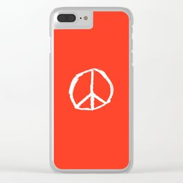 Symbol of peace 4 Clear iPhone Case