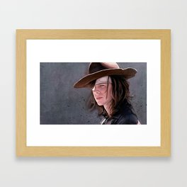 Carl Grimes Before The Fall - The Walking Dead Framed Art Print