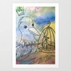 bird and bird Art Print
