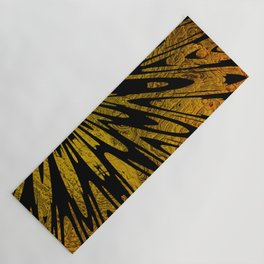 Native Tapestry in Gold Yoga Mat