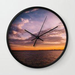 Charleston Sunset VIII Wall Clock